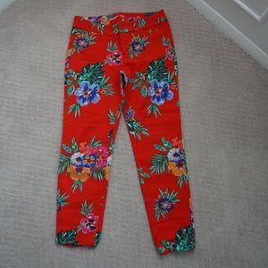 NWOT floral pixie pants